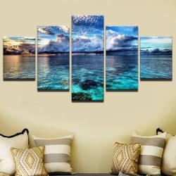 Set tablou Canvas peisaj ocean 5 piese 30 x 50 cm 30 x 70 cm 30 x 80 cm Tablouri