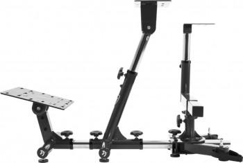 Simulator Racing Arozzi Velocita-Black Universal Complet ajustabil Suport pentru volan pedale si schimbator de viteze