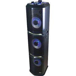 Boxa activa portabila Akai 1000 W Bluetooth Dual USB TF card AUX-in Radio FM DJ effects Party Light Afisaj LED Baterie