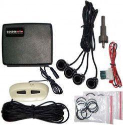Sistem parcare Kemot URZ0206 4 senzori de asistenta la parcare display lad si avertizare sonora Negru Alarme auto si Senzori de parcare
