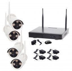 Sistem Supraveghere WIFI 4 Camere Exterior HD 720P Wireless Camere de Supraveghere