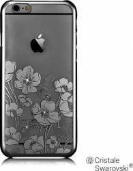 Husa Devia Crystal Rococo iPhone 6 6S Gun Black