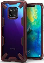 Husa Huawei Mate 20 Pro Ringke FUSION X Transparent Rosu Huse Telefoane