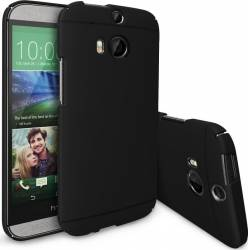 Skin Ringke Eco Slim HTC One M8 Black + Folie Huse Telefoane