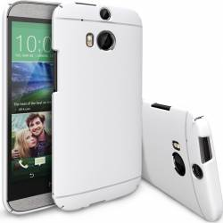 Skin Ringke Eco Slim HTC One M8 White + Folie Huse Telefoane