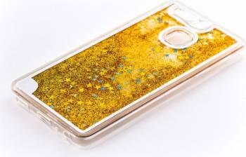 Skin Tellur Huawei P9 Sclipici Galben Huse Telefoane