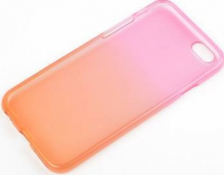 Skin Tellur pentru iPhone 5-5S pink-orange Huse Telefoane