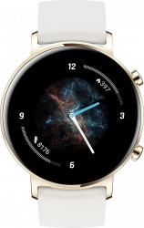 Smartwatch Huawei Watch GT 2 Sport Edition B19V   42 mm bratara fluoroelastomer Auriu Champagne Bratari Fitness