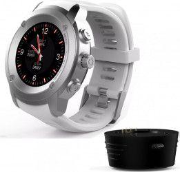 Smartwatch MaxCom FitGo FW17 Power GPS Bluetooth Silver White Smartwatch