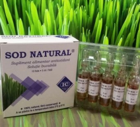 Sod natural Institutul Cantacuzino extract orz verde unic in lume cutie 10 fiole