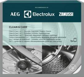 Solutie anticalcar Clean and Care 3x 1 Electrolux M3GCP400 pentru masini de spalat rufe & vase 6 buc