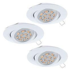 Spot incastrat TEDO 31683 GU10-LED 3X5W EGLO 80 Aluminiu turnat / Alb