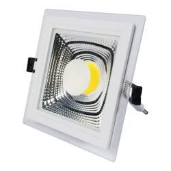 SPOT LED 15W COB PATRAT STICLA Lumina Calda Corpuri de iluminat