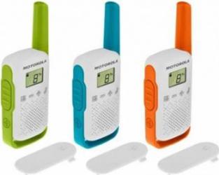 Statie radio PMR portabila Motorola TALKABOUT T42 TRIPLE PACK set cu 3 buc