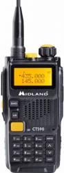 Statie radio VHF/UHF portabila Midland CT590S dual band 136 174Mhz 400-470Mhz 128 Canale Statii radio