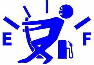 Sticker clapeta rezervor auto culoare albastra decorativ Huse si Accesorii