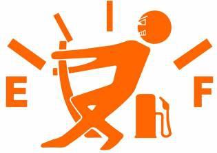 Sticker clapeta rezervor auto culoare portocaliu decorativ Huse si Accesorii