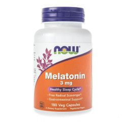 Supliment insomie Melatonina Now Foods Melatonin 3mg 180 capsule vegetale