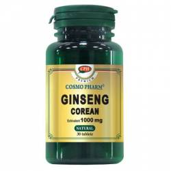 Supliment Alimentar Ginseng Corean 1000mg 30cps Cosmo Pharm