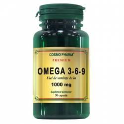 Supliment Alimentar Omega 3-6-9 Ulei de Seminte de In 1000mg 30cps Cosmo Pharm
