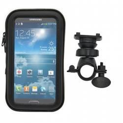 Suport telefon rotatie 360 grade pentru bicicleta cu husa telefon impermeabila montare pe coarne compatibila Samsung Gal