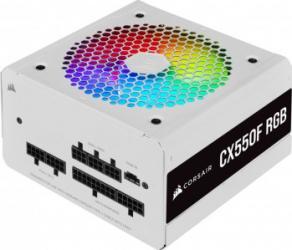 Sursa Corsair CX550F 550W 80 PLUS Bronze White RGB Surse