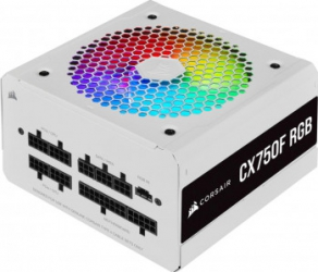 Sursa Corsair CX750F 750W 80 PLUS Bronze Alb RGB Surse