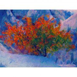 Tablou Canvas Abstract 323 80 x 60 cm Rama lemn Multicolor Tablouri