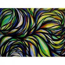 Tablou Canvas Abstract 331 80 x 60 cm Rama lemn Multicolor Tablouri
