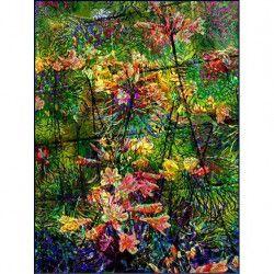 Tablou Canvas Abstract 332 60 x 80 cm Rama lemn Multicolor Tablouri