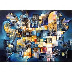 Tablou Canvas Abstract 514 70 x 50 cm Rama lemn Multicolor Tablouri