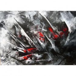 Tablou Canvas Abstract 70 x 50 cm Rama lemn Multicolor Tablouri