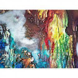 Tablou Canvas Abstract 770 80 x 60 cm Rama lemn Multicolor Tablouri