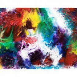 Tablou Canvas Abstract 771 80 x 60 cm Rama lemn Multicolor Tablouri