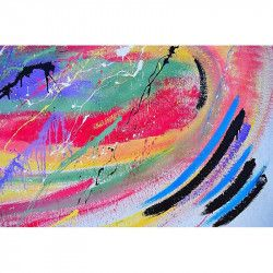 Tablou Canvas Abstract 773 80 x 60 cm Rama lemn Multicolor Tablouri