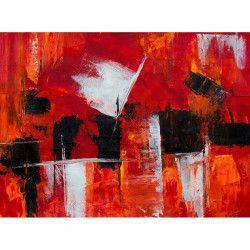 Tablou Canvas Abstract 792 80 x 60 cm Rama lemn Multicolor Tablouri