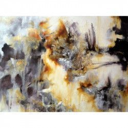 Tablou Canvas Abstract 80 x 60 cm Rama lemn Multicolor Tablouri