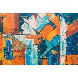 Tablou Canvas Abstract 789 80 x 60 cm Rama lemn Multicolor Tablouri