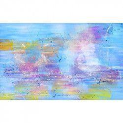 Tablou Canvas Abstract Culori Albastru 80 x 50 cm Multicolor