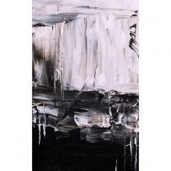 Tablou Canvas Alb si negru 50 x 80 cm Rama lemn Multicolor Tablouri