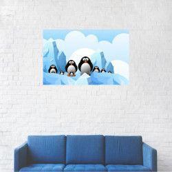 Tablou Canvas Animatie pinguini pe ghetari 40 x 60 cm Tablouri
