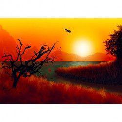 Tablou Canvas Apus de soare 364 80 x 50 cm Rama lemn Multicolor Tablouri