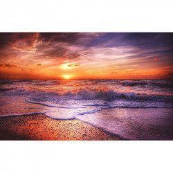 Tablou Canvas Apus de soare la malul marii 80 x 50 cm Rama lemn Multicolor Tablouri