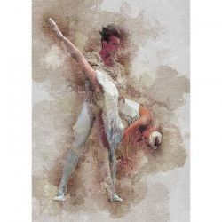 Tablou Canvas Balet 50 x 70 cm Rama lemn Multicolor Tablouri
