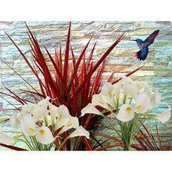 Tablou Canvas Buchet de cale 80 x 60 cm Rama lemn Multicolor Tablouri