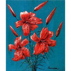 Tablou Canvas Buchet de crini 1351 72 x 60 cm Rama lemn Multicolor Tablouri