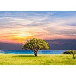 Tablou Canvas Cer innorat Copac 70 x 50 cm Multicolor