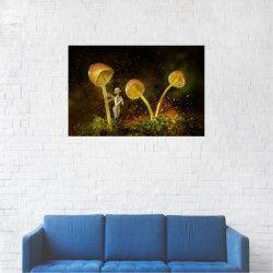Tablou Canvas Ciuperci din povesti luminate 40 x 60 cm Tablouri