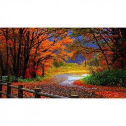 Tablou Canvas Culori de toamna 662 80 x 50 cm Rama lemn Multicolor Tablouri