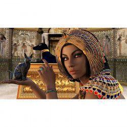 Tablou Canvas Detalii egiptene 90 x 50 cm Rama lemn Multicolor